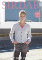 Sirdar Wash 'n Wear Double Crepe - 7819 Cardigan Knitting Pattern